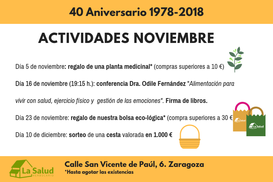 Celebramos el 40 aniversario de La Salud