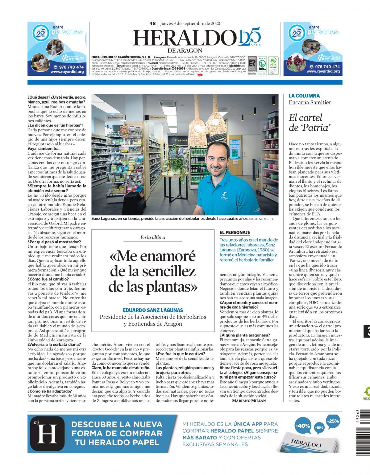 Contraportada Heraldo La Salud