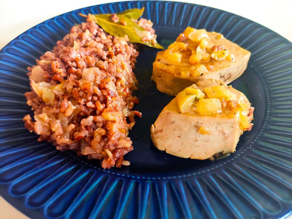Receta de atún con arroz rojo